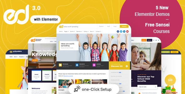 Nulled Ed School v3.5.0 - Education WordPress Theme