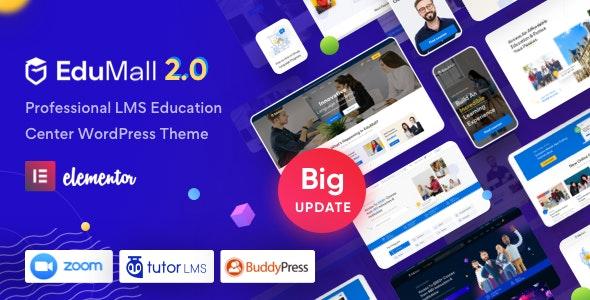 Nulled EduMall v2.6.0 - Professional LMS Education Center WordPress Theme