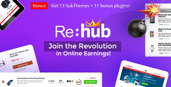 Nulled REHub v14.9.4.4 - Price Comparison, Business Community