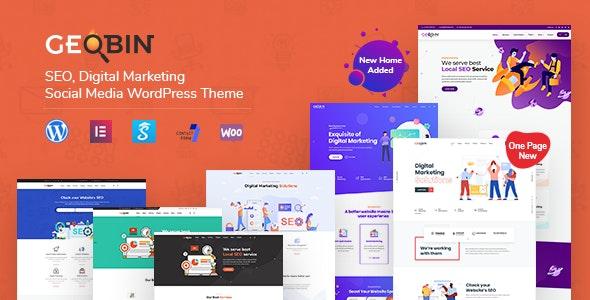 Nulled GeoBin v2.7.1 - Digital Marketing Agency, SEO WordPress Theme