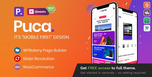 Nulled Puca v2.2.11 - Optimized Mobile WooCommerce Theme