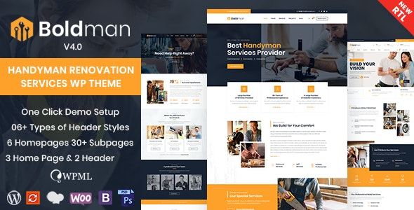 Nulled Boldman v4.1 - Handyman Renovation Services WordPress Theme