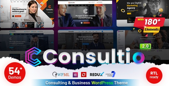 Nulled Consultio v2.0 - Consulting Corporate WordPress Theme