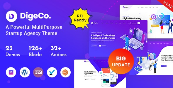 Nulled Digeco v1.7.2 Startup Agency WordPress Theme