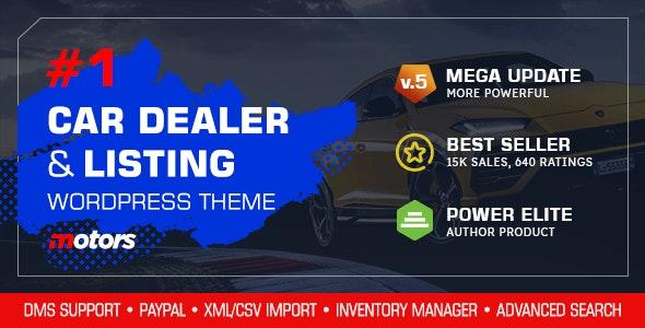 Nulled Motors v5.0 - Automotive, Cars, Vehicle, Boat Dealership WordPress Theme