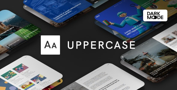 Nulled Uppercase v1.0.8 - WordPress Blog Theme with Dark Mode